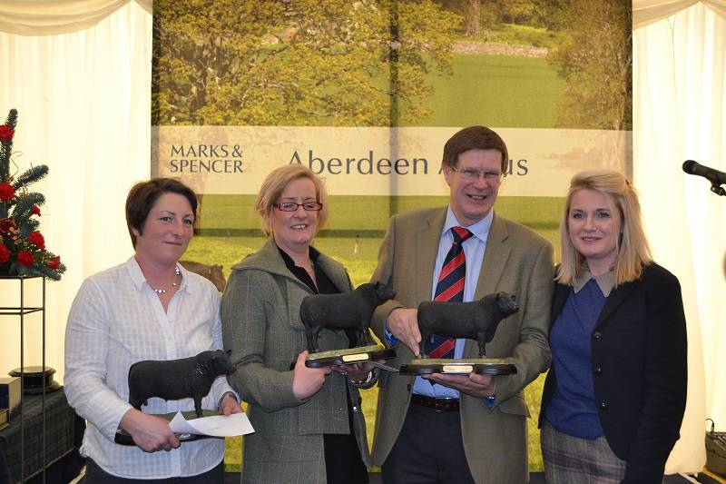 Scotbeef Aberdeen Angus Finishing Competition prize winners with Suzie England from Scotbeef (far right)